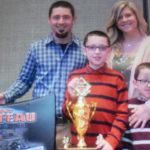 cole shanteau celebrates his mini wedge victory season with his family