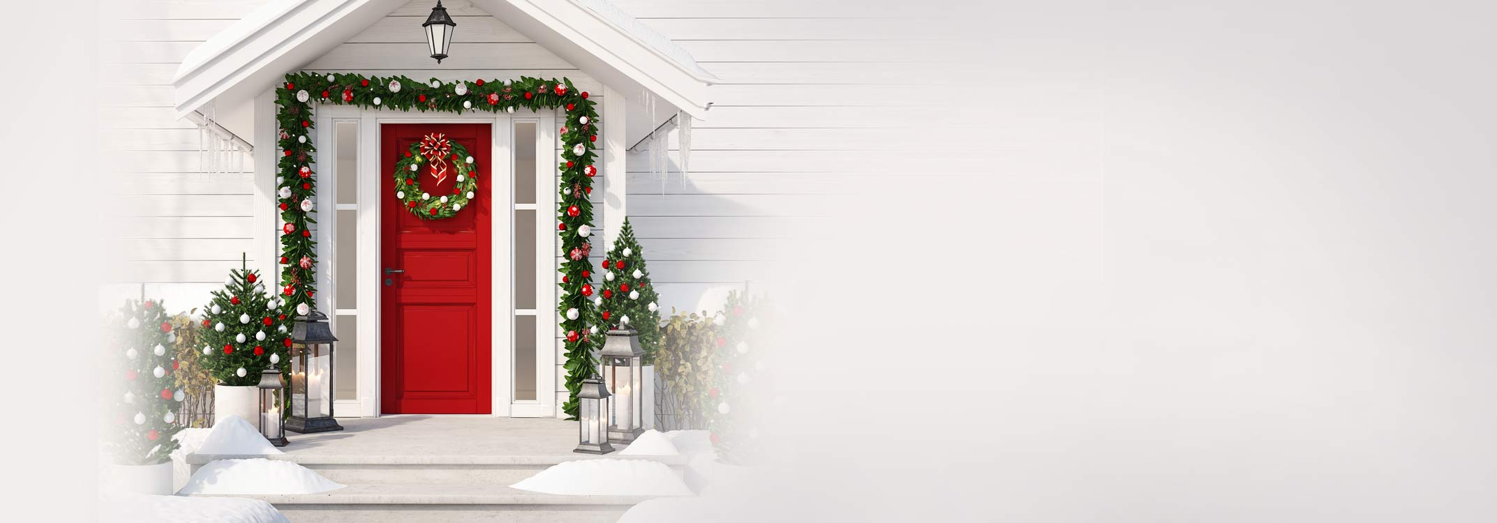 vinyl siding house decorated for christmas with vz hang vinyl siding hooks